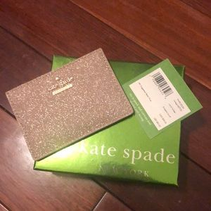 NWT Kate Spade Burgess Court Card Holder Gold